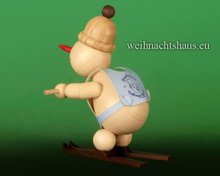 Seiffen Weihnachtshaus - .      Kugelschneemann Skischule Anfänger Schneepflug - Bild 2