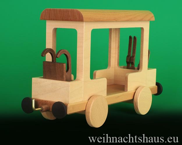 Seiffen Weihnachtshaus - .      Kugelschneemann Eisenbahn Anhänger Neuheit 2020 - Bild 2