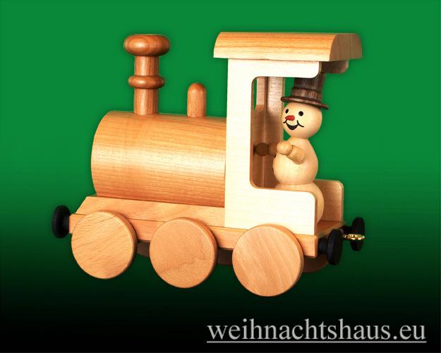 Seiffen Weihnachtshaus - .      Kugelschneemann Eisenbahn Räucherlock Neuheit 2020 - Bild 1