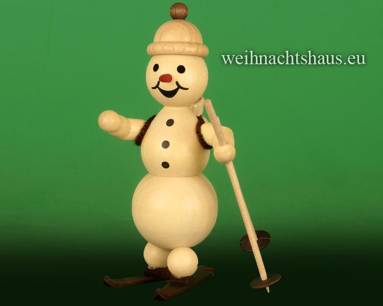 Seiffen Weihnachtshaus - .      Kugelschneemann Skischule Ski-Lehrer Neuheit 2019 - Bild 1