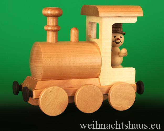 Seiffen Weihnachtshaus - .      Kugelschneemann Eisenbahn Räucherlock Neuheit 2020 - Bild 2