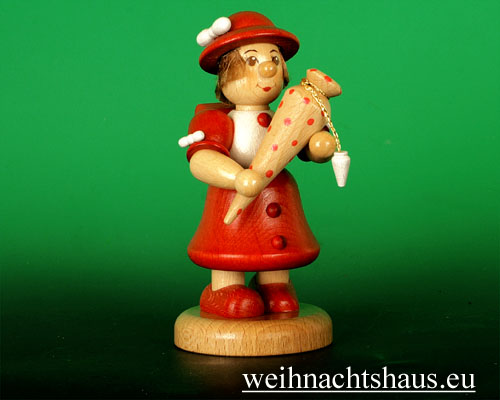 Seiffen Weihnachtshaus - Schulkind großes Mädchen - Bild 1
