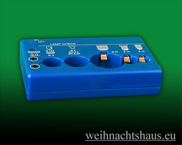 Seiffen Weihnachtshaus -  Testgerät für Schwibbogenkerzen - Bild 1