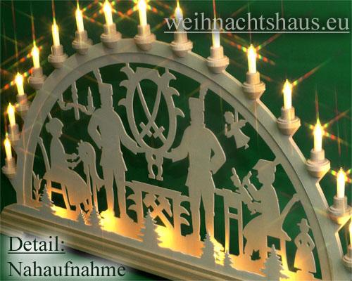 Seiffen Weihnachtshaus - Schwibbogen 20 Kerzen Bergmann 80 cm - Bild 2