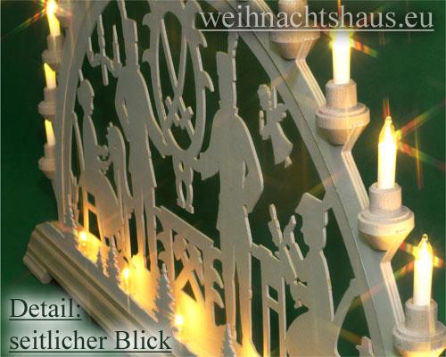 Seiffen Weihnachtshaus - Schwibbogen 20 Kerzen Bergmann 80 cm - Bild 3