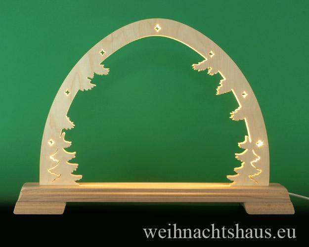 Seiffen Weihnachtshaus - Schwibbogen  ohne Figuren leer 48cm LED - Bild 1