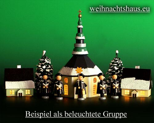Seiffen Weihnachtshaus - Haus zum Beleuchten 5,5 cm Schnee - Bild 2