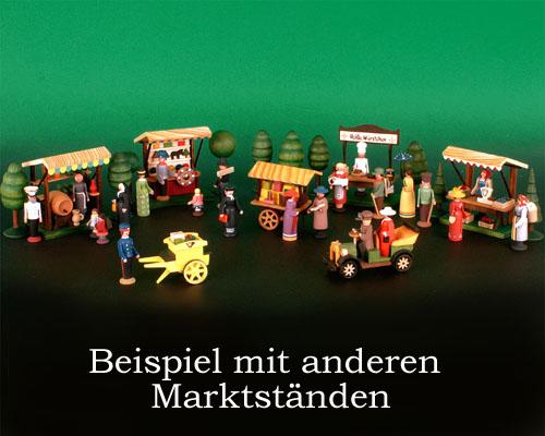 Seiffen Weihnachtshaus - Sommermarkt Weinstand 7 tlg - Bild 2