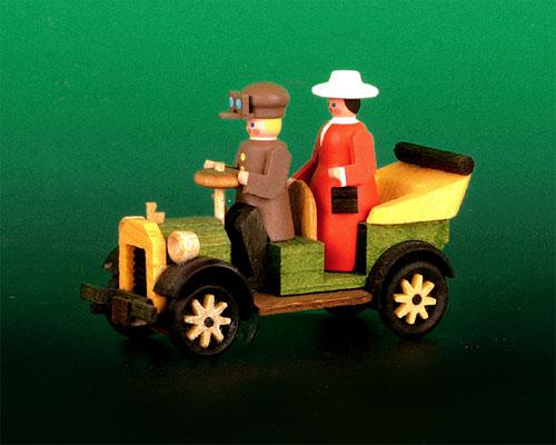 Seiffen Weihnachtshaus - Sommermarkt Oldtimerauto Funny - Bild 1