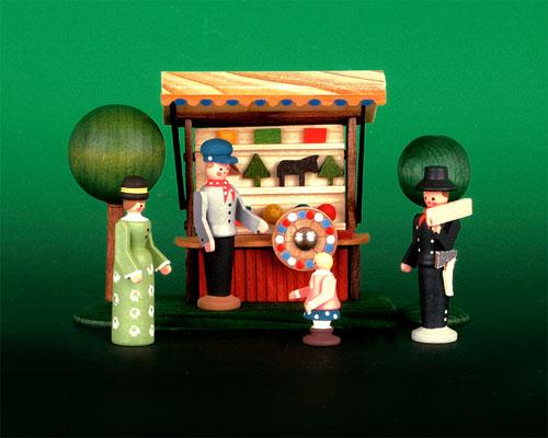 Seiffen Weihnachtshaus - Sommermarkt Glücksstand 6 tlg - Bild 1