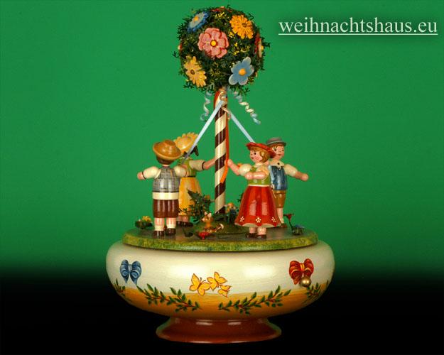 Seiffen Weihnachtshaus - <!--01-->Spieldose Hubrig Holzkunst Maientanz - Bild 2