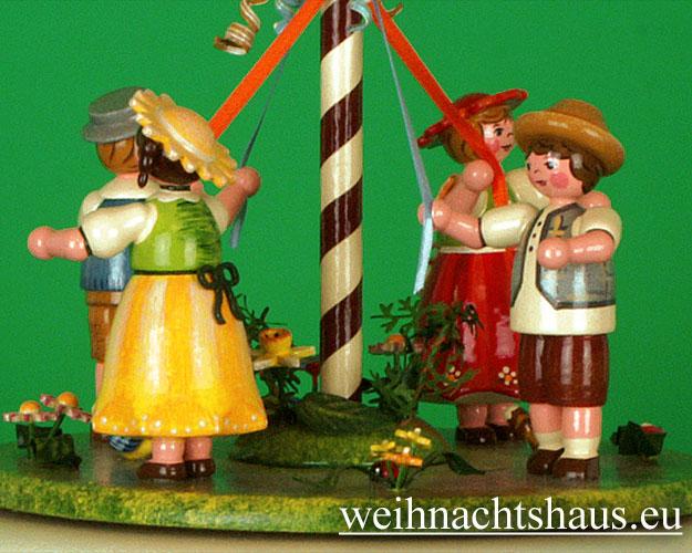 Seiffen Weihnachtshaus - <!--01-->Spieldose Hubrig Holzkunst Maientanz - Bild 3
