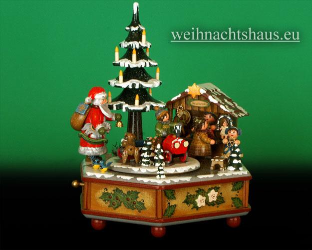 Seiffen Weihnachtshaus - <!--01-->Spieldose Hubrig Holzkunst Winterzeit - Bild 1
