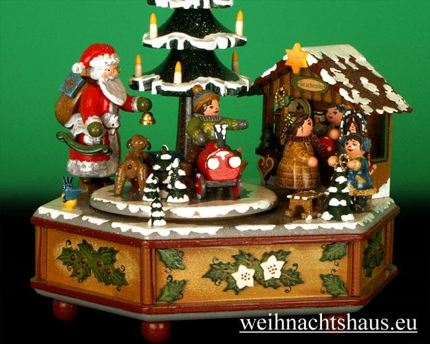 Seiffen Weihnachtshaus - <!--01-->Spieldose Hubrig Holzkunst Winterzeit - Bild 2