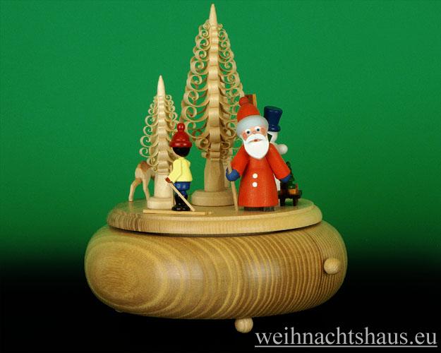 Seiffen Weihnachtshaus - <!--01-->Spieldose Erzgebirge Weihnachtsmann - Bild 1