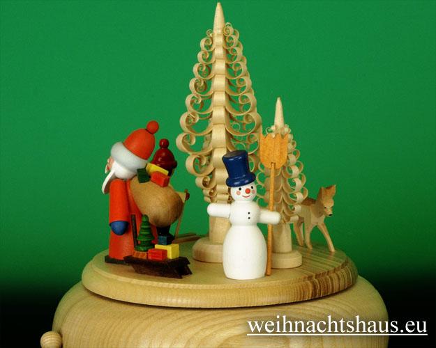 Seiffen Weihnachtshaus - <!--01-->Spieldose Erzgebirge Weihnachtsmann - Bild 2