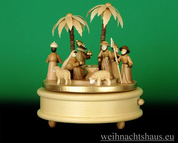 Seiffen Weihnachtshaus - <!--01-->Spieldose Erzgebirge Christi Geburt - Bild 1