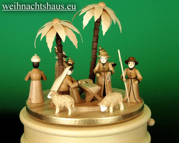 Seiffen Weihnachtshaus - <!--01-->Spieldose Erzgebirge Christi Geburt - Bild 2