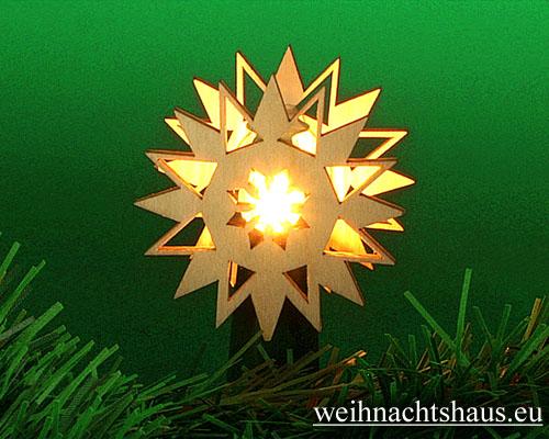 Stern für schwibbogen Schwibbögen Steckstern Schneestern Kristall zum Aufstecken auf Lichterbögen Holz Holzstern kaufen