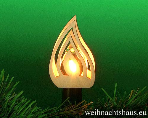 Seiffen Weihnachtshaus - Steckstern Flamme - Bild 1
