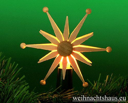 Seiffen Weihnachtshaus - Steckstern Strahlenstern - Bild 1