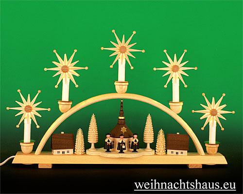 Seiffen Weihnachtshaus - Steckstern Strahlenstern - Bild 2