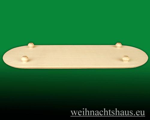 Seiffen Weihnachtshaus - Stollenbrett Erzgebirge Stollen-bretter aus Holz groß - Bild 2