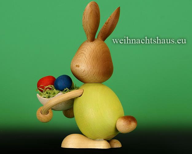 Seiffen Weihnachtshaus - Stupsi    Osterhase- Kuhnert Eierschale - Bild 2