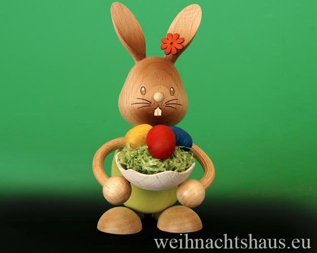 Seiffen Weihnachtshaus - Stupsi    Osterhase- Kuhnert Eierschale - Bild 1