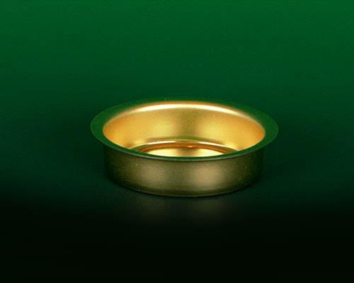 Seiffen Weihnachtshaus - Teelichtmetalleinsatz flache Ausführung - Bild 1