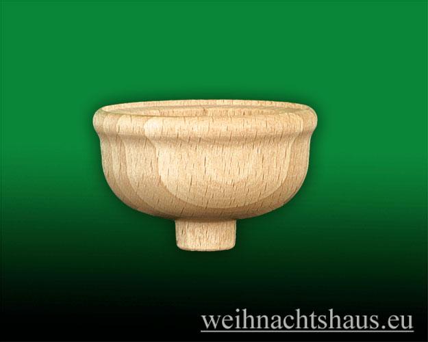 Seiffen Weihnachtshaus - Teelichtadapter,  Teelichtaufsatz hoher runder Rand (Adapter) - Bild 1