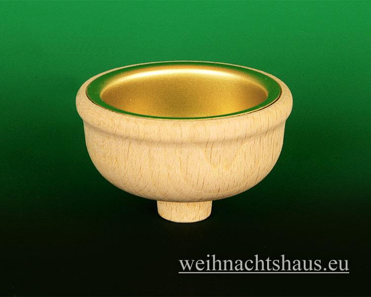 Seiffen Weihnachtshaus - Teelichtadapter,  Teelichtaufsatz hoher runder Rand (Adapter) - Bild 2