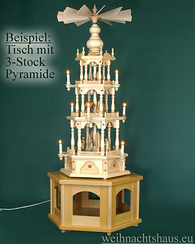 Seiffen Weihnachtshaus - Pyramiden- Tisch Höhe 30 cm - Bild 2