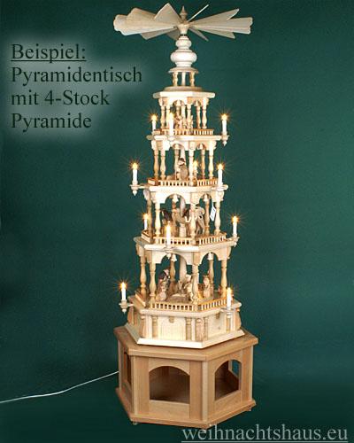 Seiffen Weihnachtshaus - Pyramiden- Tisch Höhe 30 cm - Bild 3