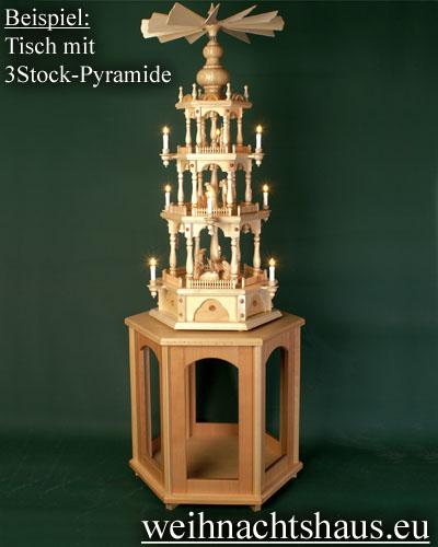 Seiffen Weihnachtshaus - Pyramiden- Tisch Höhe 65 cm - Bild 2