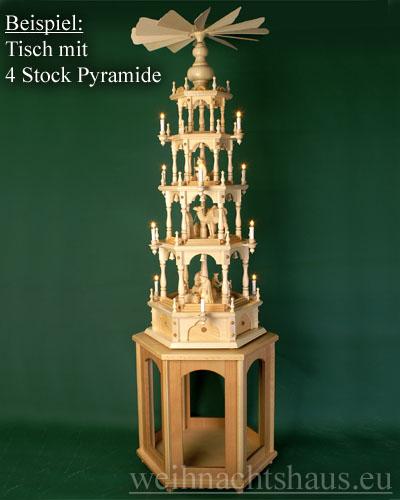 Seiffen Weihnachtshaus - Pyramiden- Tisch Höhe 60 cm - Bild 3