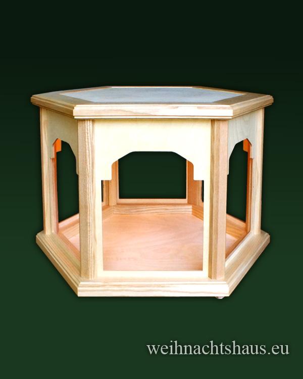 Seiffen Weihnachtshaus - Weihnachtspyramiden- Tisch beleuchtet Höhe 40cm - Bild 1