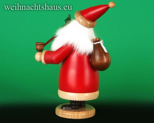 Seiffen Weihnachtshaus - <!--03-->Räuchermann Wichtel Weihnachtsmann mit Baum - Bild 2