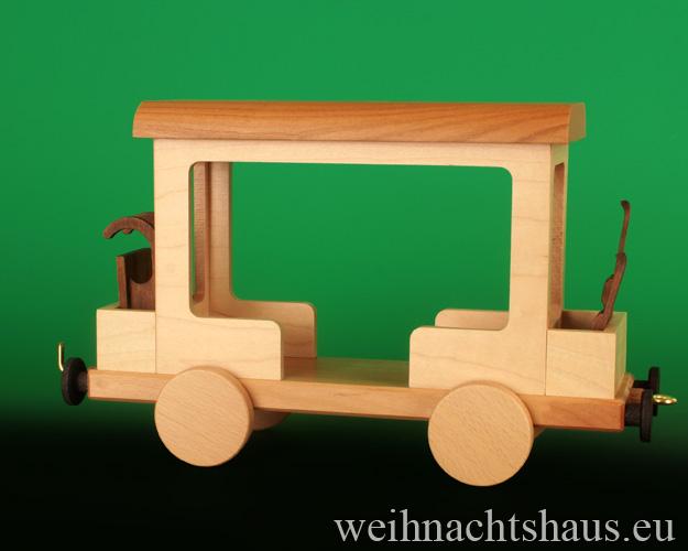 Seiffen Weihnachtshaus - .      Kugelschneemann Eisenbahn Anhänger Neuheit 2020 - Bild 1