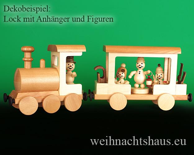 Seiffen Weihnachtshaus - .      Kugelschneemann Eisenbahn Anhänger Neuheit 2020 - Bild 3
