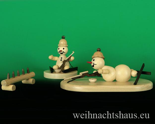 Seiffen Weihnachtshaus - Biathlon Zielscheibe für Schneemann Wagner - Bild 2