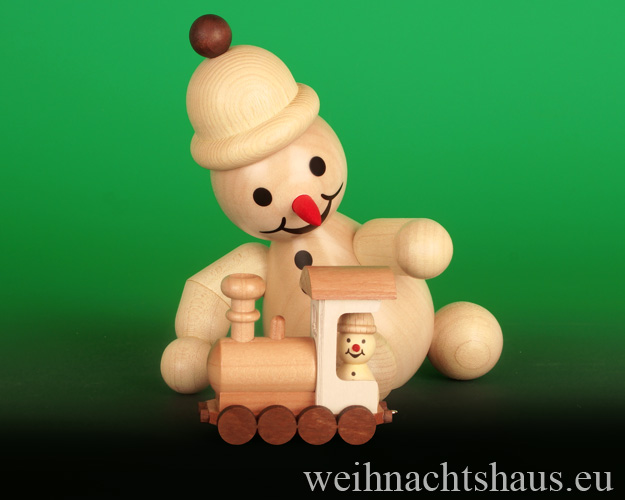 Seiffen Weihnachtshaus - .      Kugelschneemann Junior mittelgroß mit Lock Neuheit 2020 - Bild 1