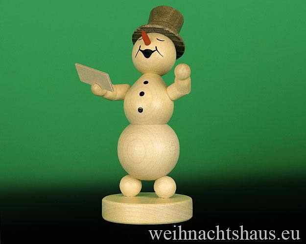 Seiffen Weihnachtshaus - . Kugelschneemann Musikant  Sänger - Bild 1