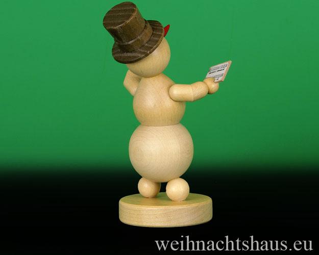 Seiffen Weihnachtshaus - . Kugelschneemann Musikant  Sänger - Bild 2