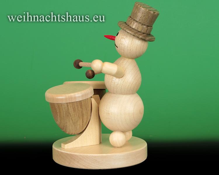 Seiffen Weihnachtshaus - .  Kugelschneemann Musikant  Kesselpauke - Bild 2