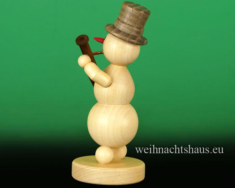 Seiffen Weihnachtshaus - .     Kugelschneemann Musikant Fagott Neuheit 2018 - Bild 2