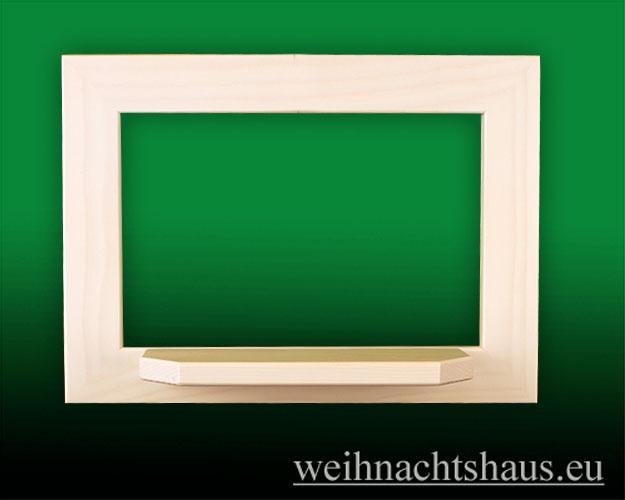Seiffen Weihnachtshaus - Wandrahmen Fichte weiß B 33 x H 24 cm - Bild 1