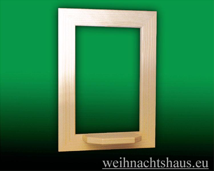 Seiffen Weihnachtshaus - Wandrahmen-Dekorahmen natur Rahmen aus Holz  B 24 x H 33 cm - Bild 1