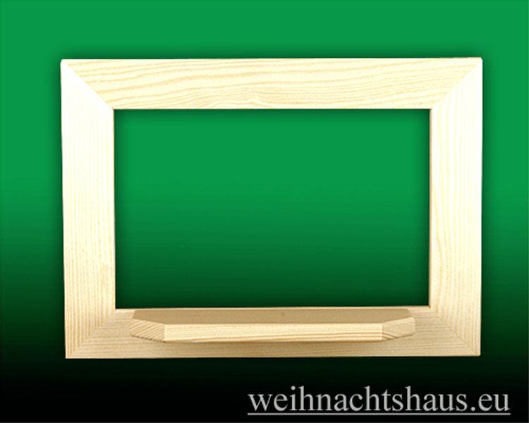 Seiffen Weihnachtshaus - Wandrahmen-Dekorahmen, natur Rahmen aus Holz    B 33 x H 24 cm - Bild 1