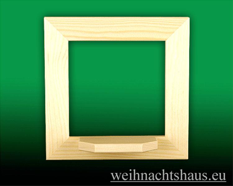 Seiffen Weihnachtshaus - Wandrahmen-Dekorahmen  natur Rahmen aus Holz  B 24 x H 24 cm - Bild 1